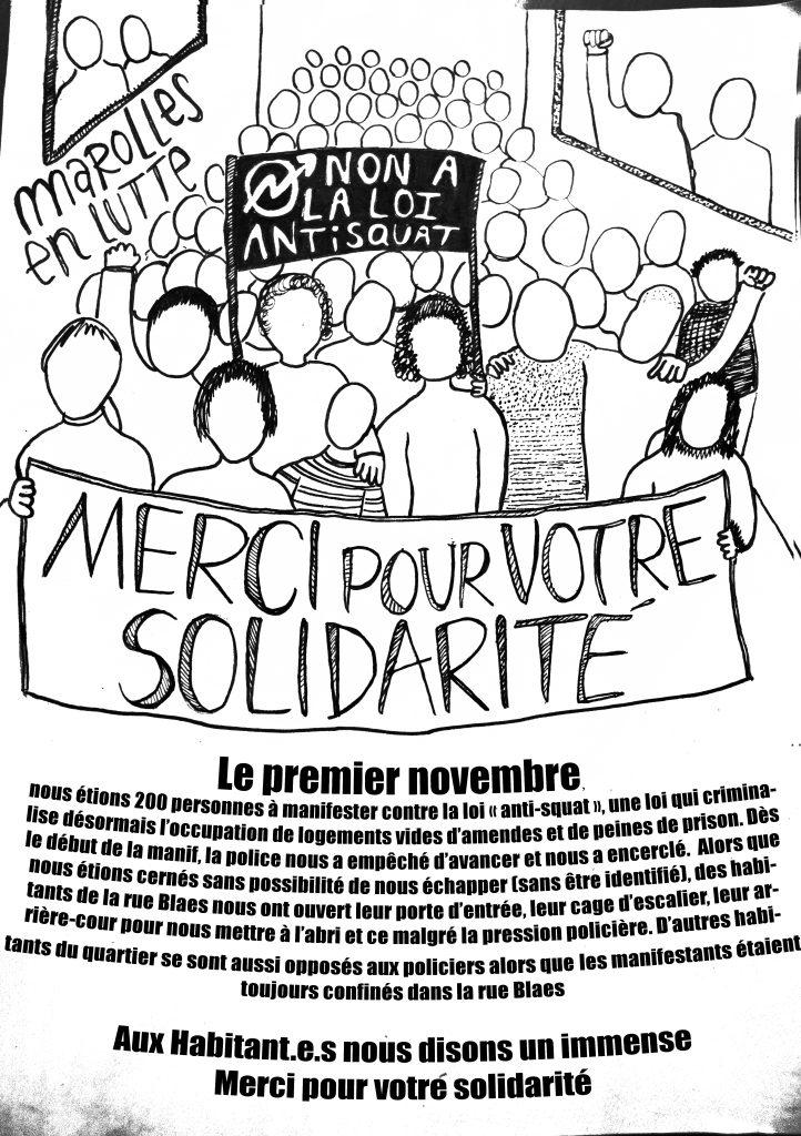 Non a la loi anti-squat Marolles